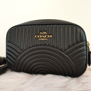 Coach Belt Bag Fanny Pack Black Deco Quilted